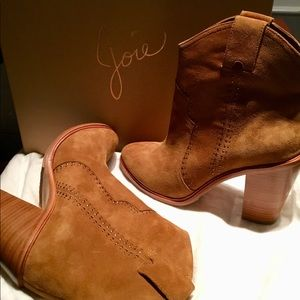NWT Joie Whiskey Color Suede Boots